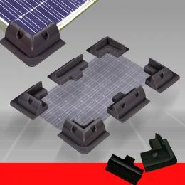 Solar Panel Corner Cable Mounting Bracket Kit Black