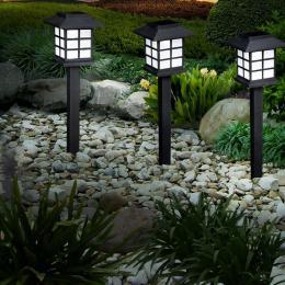 12x LED Solar Power Garde Lawn Lights Yard Lamp Outdoor Lighting