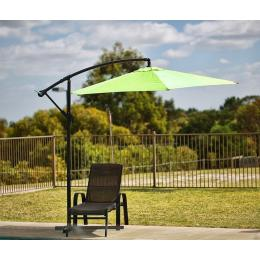 Sorrento Outdoor Living Cantilever Umbrella 2.7M - Green