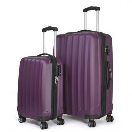 Conwwod SureLite 2pc Luggage Suitcase - Hard Case Plum