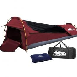 Biker Swag Camping Single Swags Tent Biking Deluxe Rip Stop Canvas