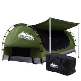 Double Swag Camping Swags Canvas Free Standing Dome Tent Celadon