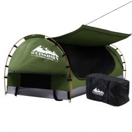 Swag King Single Camping Swags Canvas Free Standing Dome Tent Celadon