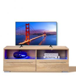 Tv Cabinet Entertainment Unit Stand Wooden Led In Oak