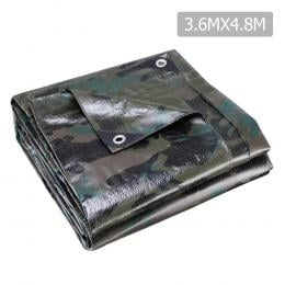 3.6x4.8m Canvas Tarp Heavy Duty Camping Poly Tarps  Cover Camouflage
