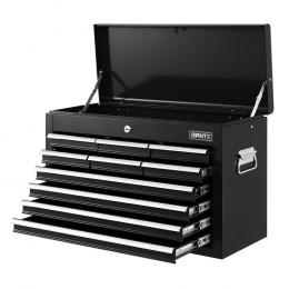 10-Drawer Tool Box Chest Cabinet Garage Storage Toolbox Black