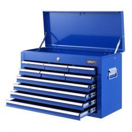 10-Drawer Tool Box Chest Cabinet Garage Storage Toolbox Blue