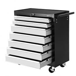 Tool Chest and Trolley Box Cabinet 7 Drawers Cart Garage Storage