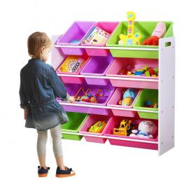 Levede 12Bins Kids Toy Box Bookshelf Organiser Display Shelf Storage