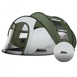 Instant Up Camping Tent 4-5 Person Pop up Tents Family Hiking Dome