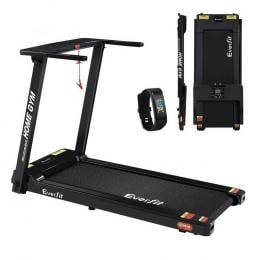 Electric Treadmill Home Gym Exercise Running Machine 420mm Belt Black