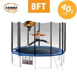 Blizzard 8 ft trampoline with net
