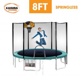 Cyclone 8 ft Springless trampoline with net