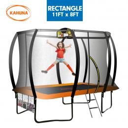 Kahuna Outdoor Rectangular Trampoline 8 ft x 11 ft - Orange