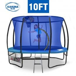 Kahuna 10 ft Trampoline with Blue Safety Net and Pad
