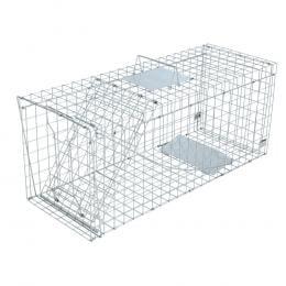 Humane Animal Trap Cage 150 x 50 x 53cm - Silver