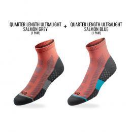 Tego Socks Quarter Ultralight 2 Pack - Flamingo