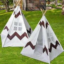 Kids Children Home Canvas Teepee Pretend Play Tent Playhouse Tipi