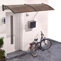 1x1m Window Door Awning Canopy In Brown