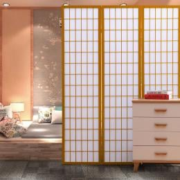 Levede 4 Panel Free Standing Foldable Timber Room Divider