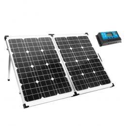 12V 160W Folding Solar Panel Kit Camping Power Mono Charging Home