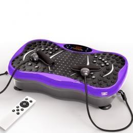 Vibration Machine Fitness Plate Bluetooth Massage Function Purple