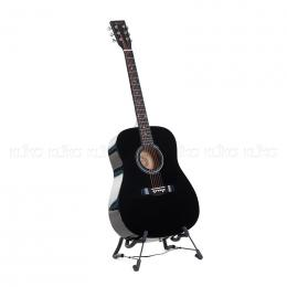 Karrera 41in Acoustic Wooden Guitar Black