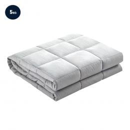 Laura Hill Weighted Blanket Heavy Qulit Doona 5Kg - Grey