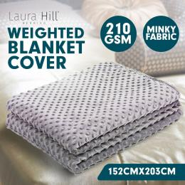 Weighted Blanket Quilt Doona Cover 152 x 203cm Grey
