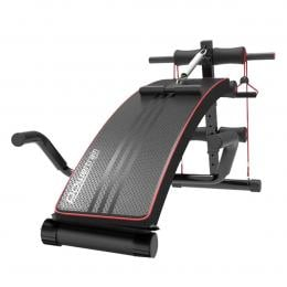 PowerTrain Inclined Sit up bench with Resistance bands - 103