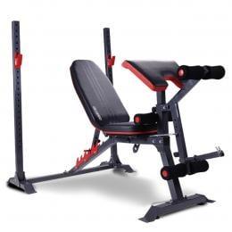Powertrain Home Gym Workout Bench Press Incline Preachers Curl - 301