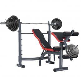 Powertrain Home Gym Workout Bench Press Preachers Curl Incline - 302