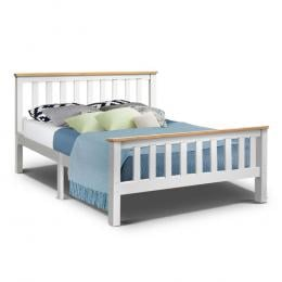Double Full Size Wooden Bed Frame PONY Timber Mattress  Bedroom Kids