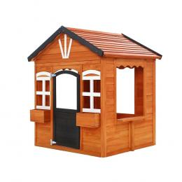 Kids Cubby House Wooden Playhouse Timber Childrens Pretend Play