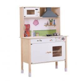 Bo Peep Kids Wooden Kitchen Pretend Play Set Cooking Cookware Gift
