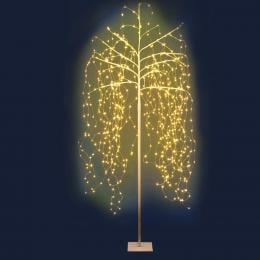 Jingle Jollys 2.1M LED Christmas Willow Tree 600 Warm White