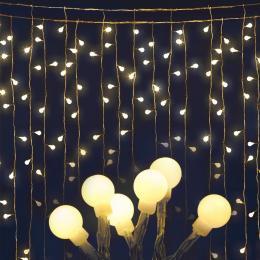 300 LED Curtain Fairy Lights - Warm White