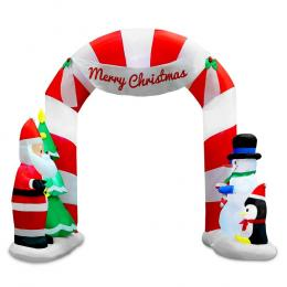 Jingle Jollys 3M Christmas Inflatable Archway with Santa LED