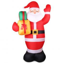 Jingle Jollys 2.4M Christmas Inflatables Santa Xmas Light Decor LED