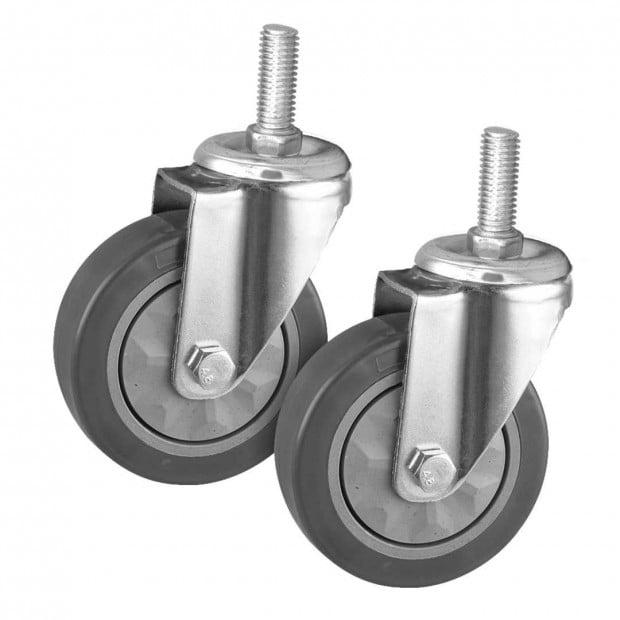 SOGA 2 x 4In Heavy Duty Polyurethane Swivel Castor Wheels