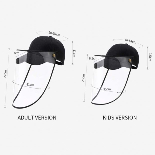 2X Outdoor Protection Hat Anti-Fog Pollution Dust Saliva Protective Image 9