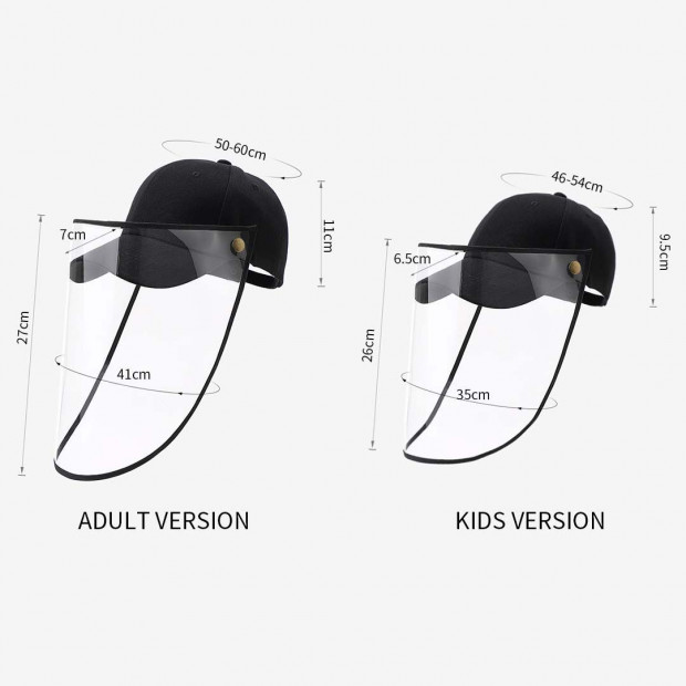 Outdoor Protection Hat Anti-Fog Pollution Dust Saliva Protective Image 9