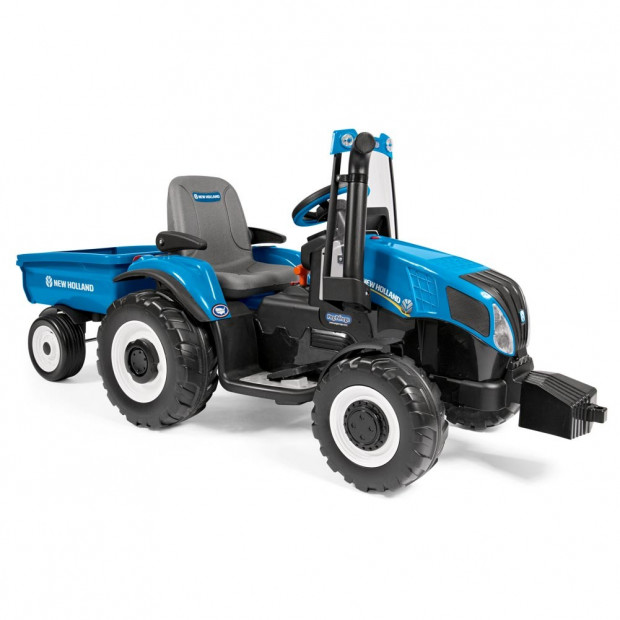 Holland T8 Battery Operated Ride On 12 Volt with Trailer Image 2