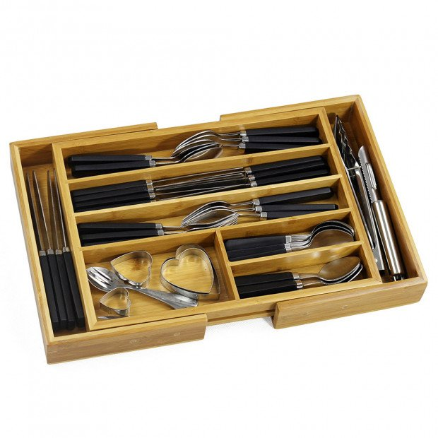 Bamboo Expandable Drawer Organiser