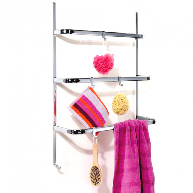 Over The Door/Screen Towel Rails with Removable Hooks