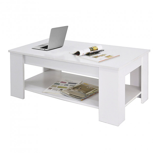 Lift Top Coffee Table - White