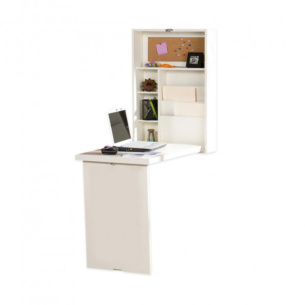 Convertible Wall Mounted Desk - White