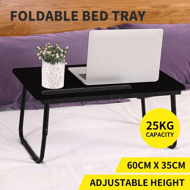 Laptop Stand Desk  Portable Foldable Adjustable Black