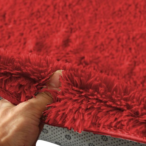 New Designer Shaggy Floor Confetti Rug Red 80x120cm Image 1
