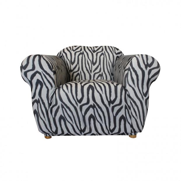 Sure Fit Armchair Pearson Sofa Cover - Zebra